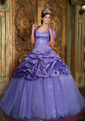 Puffy Sweetheart 2014 Appliques Quinceanera Dresses with Pick-ups