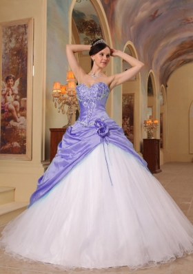 Simple Princess Sweetheart Beading Quinceanera Dresses for 2014
