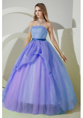2014 Elegant Princess Strapless Beading and Embroidery Quinceanera Dresses