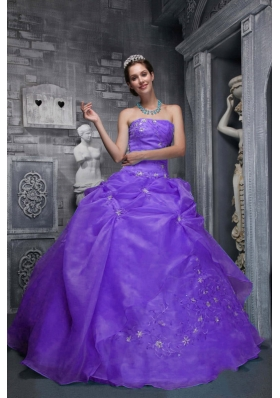 2014 Spring Beautiful Strapless Appliques Quinceanera Dresses