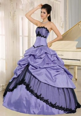 2014 Spring Pick-ups and Appliques Quinceanera Dresses For Custom Made