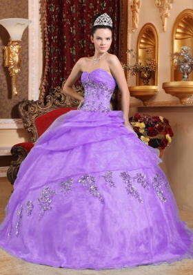 Brand New Lavender Puffy Sweetheart Beading Quinceanera Dresses for 2014