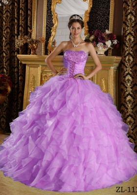 Discount Puffy Strapless Embroidery Quinceanera Dresses for 2014