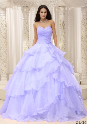 Elegant Sweetheart Ruching 2014 Spring Quinceanera Dresses