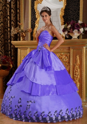 2014 Brand New Puffy Sweetheart with Appliques Quinceanera Dresses
