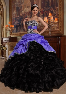 Elegant Puffy Sweetheart Pick-ups 2014 Quinceanera Dresses