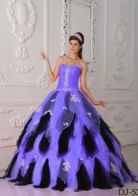 Pretty Princess Strapless Appliques Quinceanera Dresses for 2014