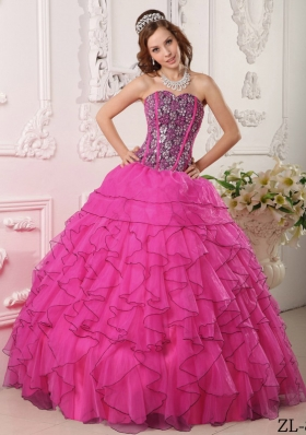 Sweetheart Beaded Decorate Bodice Quinceanera Dress for Spring