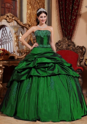 2014 Spring Puffy Strapless Cheap Quinceanera Dresses with Beading