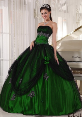 Ball Gown Strapless 2014 Quinceanera Dresses with Beading