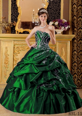 Cheap Puffy Sweetheart Floor-length Quinceanera Dresses with Appliques
