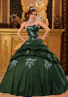 Puffy Sweetheart Quinceanera Dresses with Beading Appliques