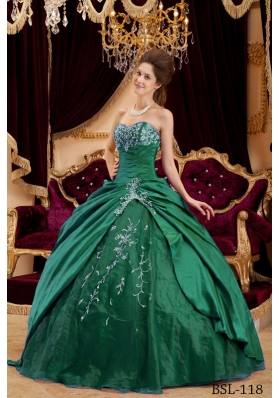 Simple Sweetheart 2014 Quinceanera Dresses with Appliques