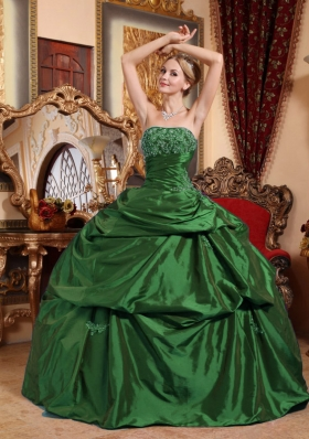 Strapless Beading and Appliques Quinceanera Dresses for Military Ball
