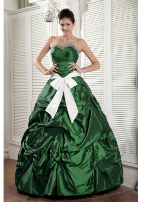 2014 Spring Puffy Sweetheart Quinceanea Dresses with Sashes