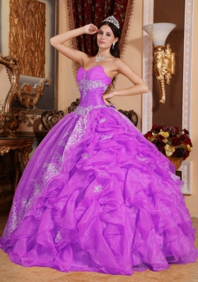 Sweetheart Organza Appliques and Ruffles Sweet Sixteen Dresses