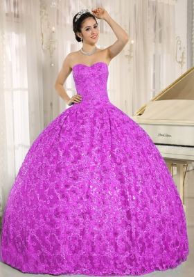 Luxurious Sweetheart Lace Full Length Quinceanera Dress for 2014 Spring