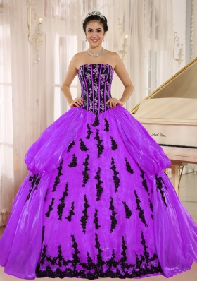 New Arrival Strapless Embroidery Decorate Dress For Quinceanera