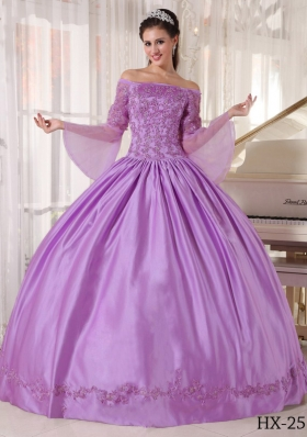 Ball Gown Off The Shoulder Appliques Dresses For a Quinceanera