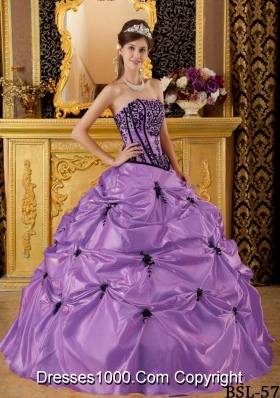 Ball Gown Strapless Embroidery Pick-ups Quinceanera Gowns Dresses
