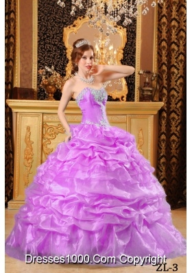Ball Gown Sweetheart Appliques Dresses For a Quince with Pick-ups