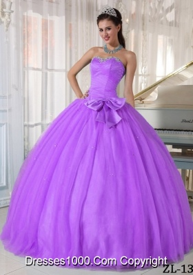 Ball Gown Sweetheart Beading and Bowknot Quinceanera Dress
