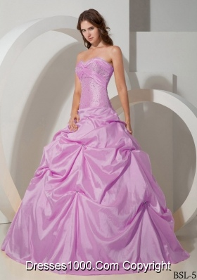 Ball Gown Sweetheart Beading Pick-ups Quinceanera Gowns Dresses