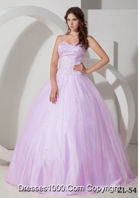 Ball Gown Sweetheart Beading Quinceanera Dress with Beading