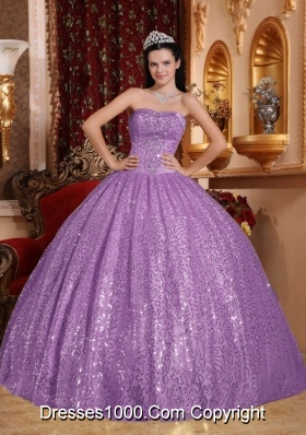 Ball Gown Sweetheart Beading Sweet Sixteen Quinceanera Dresse with Sequins
