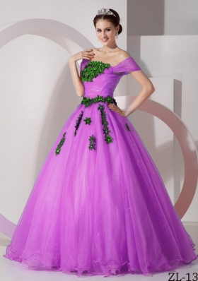 Modest Princess Off The Shoulder Appliques Quinceanera Gowns