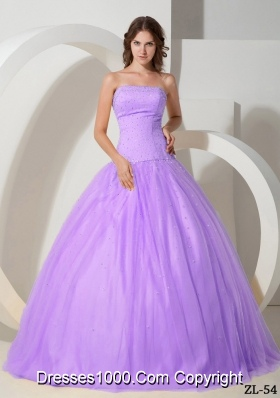 Ball Gown Strapless Beading Quinceanera Dresses Gowns