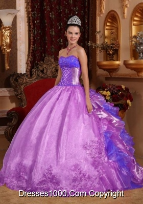 Ball Gown Strapless Embroidery and Ruffles Quinceanera Dresses Gowns