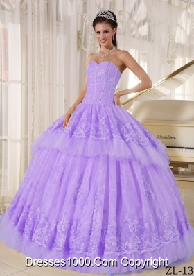 Beautiful Ball Gown Sweetheart Appliques Sweet Sixteen Dresses