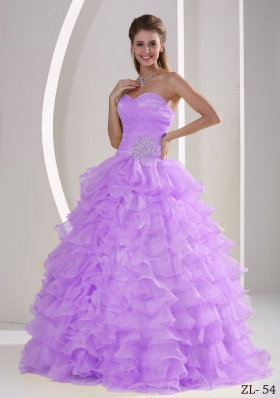 Ruffles Sweetheart Ruffles and Ruching Quinceaners Gowns