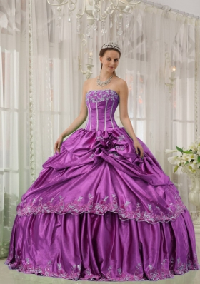 Strapless Beading and Applique Dresses Of 15 with Hand Made Flowers