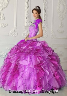 Strapless Beading Dress For Quinceanera with Appliques and Beading
