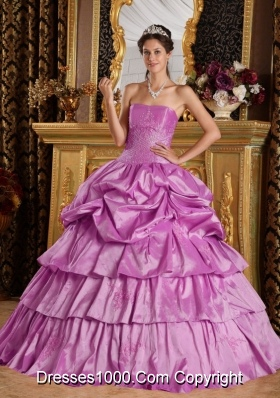 Strapless Beading Quinceneara Dresses with Pick-ups and Appliques