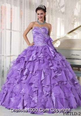 Ball Gown Sweetheart Beading and Ruffles Dresses For Quinceaneras