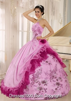 Discount 2014 Quinceanera Gowns with Applqiues and Hand Made Flowers