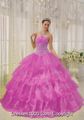 Strapless Organza Quinceanera Dresses with Layers and Appliques