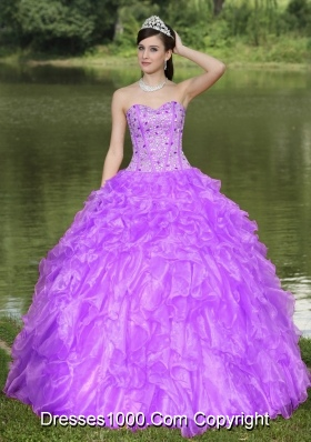 Clearance Beading and Ruffled Layers Quinceanera Dress With Sweetheart