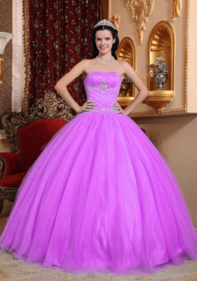 Sweetheart Appliques Decorate Quinceanera Gown with Tulle and Taffeta