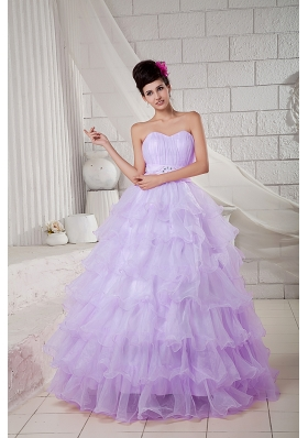 Sweetheart Organza Beading and Ruffled Layers Sweet Sixteen Dresses