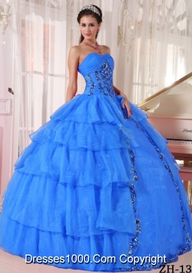 Cheap Quinceanera Dress Puffy Sweetheart with Paillette For 2014