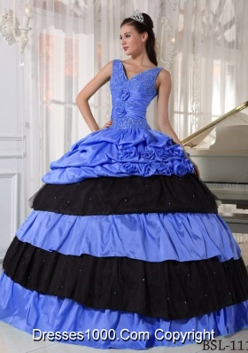 Fashionable Ball Gown V-neck Beading Quinceanera Dress For 2014