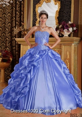 2014 Perfect Purple Puffy Sweetheart Emboridery and Beading Quinceanera Dress