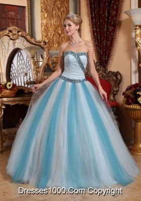 2014 Romantic Multi-color Puffy Sweetheart Quinceanera Dress with Beading