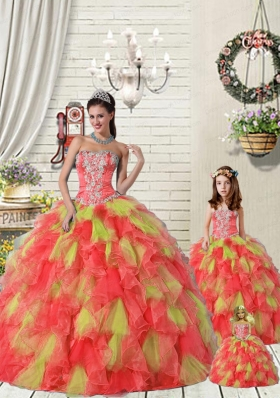 Top Seller Multi-color Princesita Dress with Ruffles and Beading for 2015