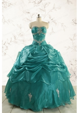 2015 Pretty Sweet 16 Dresses with Appliques