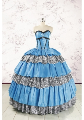 Unique Beading Sweetheart Ball Gown Quinceanera Dresses for 2015